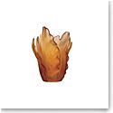 Daum Tulip Vase in Amber