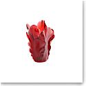 Daum Tulip Vase in Red