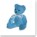 Daum Blue Doudours, Teddy Bear by Serge Mansau, Limited Edition Sculpture