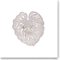 Daum Small Long-Fixture Monstera Wall Leaf in White by Emilio Robba, Sconce