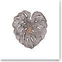 Daum Small Long-Fixture Monstera Wall Leaf in Grey by Emilio Robba, Sconce