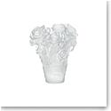 Daum Small Rose Passion Vase in White