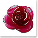 Daum Rose Passion Decorative Flower in Red