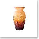 Daum Autumn Vase by Shogo Kariyazaki, Limited Edition in Amber
