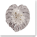 Daum Large Short-Fixture Monstera Wall Leaf in Grey by Emilio Robba, Sconce