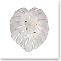 Daum Large Short-Fixture Monstera Wall Lamp in White by Emilio Robba, Sconce