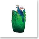 Daum Oval Jungle Vase, Limited Edition