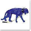 Daum XL Wild Panther in Blue by Richard Orlinski, Limited Edition Sculpture