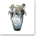 Daum Magnum Horse Vase in Blue and Grey, Limited Edition