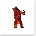 Daum Wild Bear in Dark Amber by Richard Orlinski, Limited Edition Sculpture