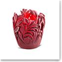 Daum Small Jungle Vase in Red