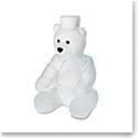 Daum Large Ritz Paris Teddy Bear in White Sculpture