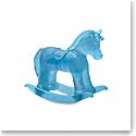 Daum Rocking Horse in Blue Sculpture