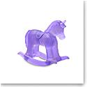 Daum Rocking Horse in Purple Sculpture