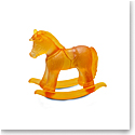 Daum Rocking Horse in Amber Sculpture