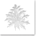 Daum Large Borneo Wall Leaf in White by Emilio Robba, Sconce