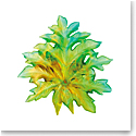 Daum Large Borneo Wall Leaf in Green by Emilio Robba, Sconce