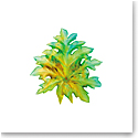 Daum Small Long-Fixture Borneo Wall Leaf in Green by Emilio Robba, Sconce