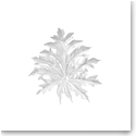 Daum Small Long-Fixture Borneo Wall Leaf in White by Emilio Robba, Sconce
