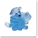 Daum Blue Doudours, Teddy Bear Twins by Serge Mansau, Limited Edition Sculpture