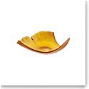 Daum Large Ginkgo Leaf Bowl in Amber