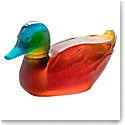 Daum Mallard Duck Sculpture