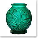 Daum Large Empreinte Vase in Green, Limited Edition