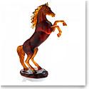 Daum Spirited Horse in Amber, Limited Edition Sculpture