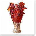Daum Cavalcade Prestige Horse Vase in Amber, Limited Edition