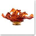 Daum Cavalcade Horse Centerpiece in Amber, Limited Edition