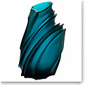 Daum Large Sand Vase in Blue by Christian Ghion, Limited Edition