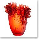 Daum Large Saffron Vase