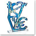 Daum LOVE by Jacques Villegle, Limited Edition Sculpture