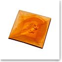 Daum Cavalcade Horse Tray in Amber