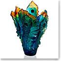 Daum Large Fleur de Paon Vase