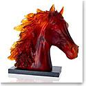 Daum Arabian Horse Head Sculpture