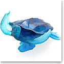 Daum Coral Sea Large Blue Sea Turtle Sculpture