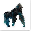 Daum Silverback Gorilla in Blue Grey by Jean-No Sculpture