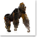 Daum Silverback Gorilla in Amber Grey by Jean-No Sculpture