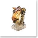 Daum Lion Head by Patrick Villas Sculpture