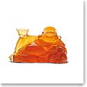 Daum Happy Buddha in Amber Sculpture