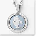 Wedgwood Classic Muse Pendants - Pale Blue Round, Floral Girl C