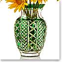 """Waterford Crystal, Jeff Leatham Fleurology Molly Emerald Cased Bouquet Crystal Vase, 12"""""""