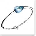 Baccarat Crystal Fleurs De Psydelic Large Silver and Aqua Mirror Bracelet