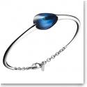 Baccarat Crystal Fleurs De Psydelic Large Bracelet, Silver and Blue Mordore