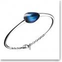 Baccarat Crystal Fleurs De Psydelic Small Bracelet, Silver and Blue Mordore