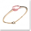 Baccarat Crystal Fleurs De Psydelic Gold Vermeil and Light Pink Small Bracelet