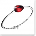 Baccarat Crystal Fleurs De Psydelic Large Bracelet, Silver and Iridescent Red