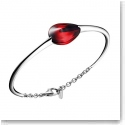 Baccarat Crystal Fleurs De Psydelic Small Bracelet, Silver and Iridescent Red