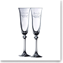 Galway Bride and Groom Flute Floral Spray Pair